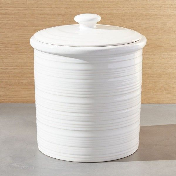 Crate Barrel Farmhouse Large Canister 33 liked on Polyvore