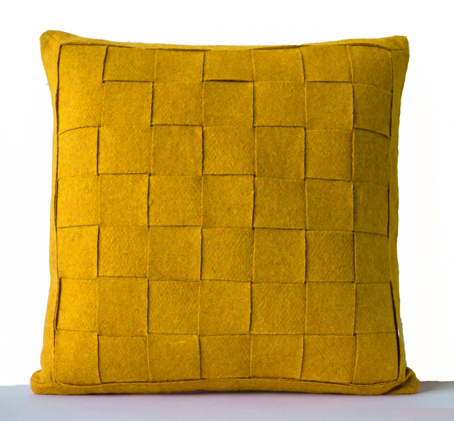 Unique Square Pillow Cover Related Items Etsy Yellow