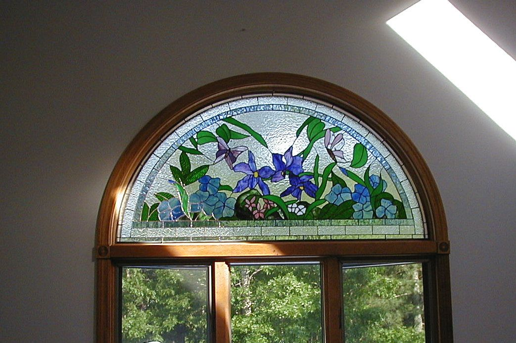 Stained glass transom window patterns beveled glass for Window design circle