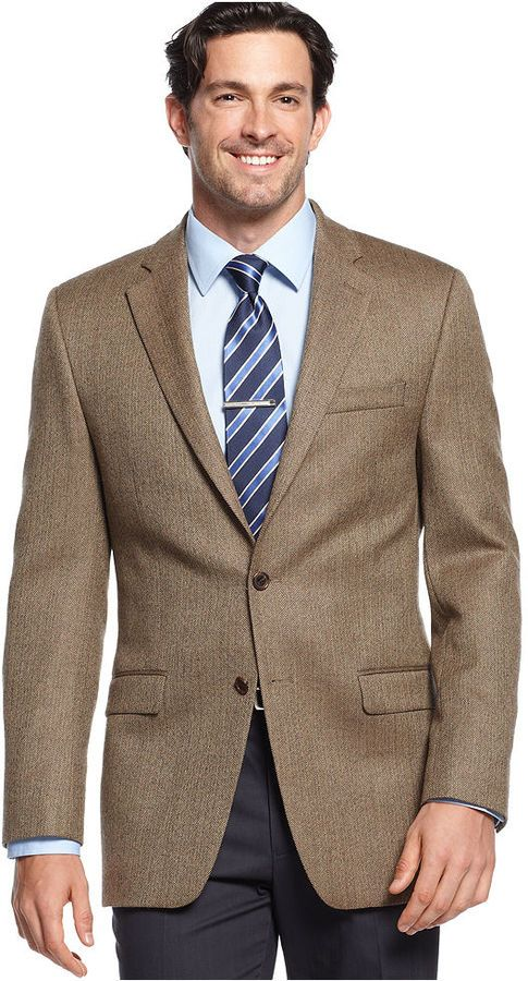 Lauren By Ralph Lauren Jacket Herringbone Sportcoat With Elbow ...