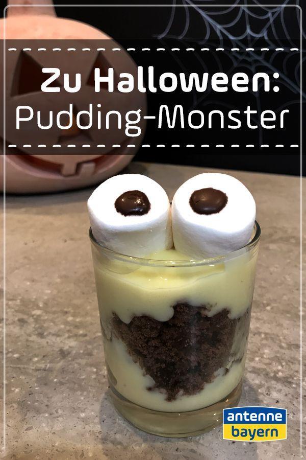 Halloween: Pudding-Monster selbstgemacht. Als süße Leckerei für euer Hallowee… – Die süßesten Rezepte – Desserts für jeden Anlass