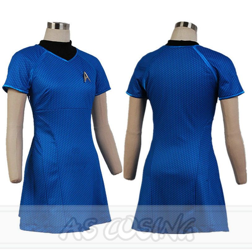 Star Trek Into Darkness Star Fleet Marcus Dress Summer Costume Blue ...