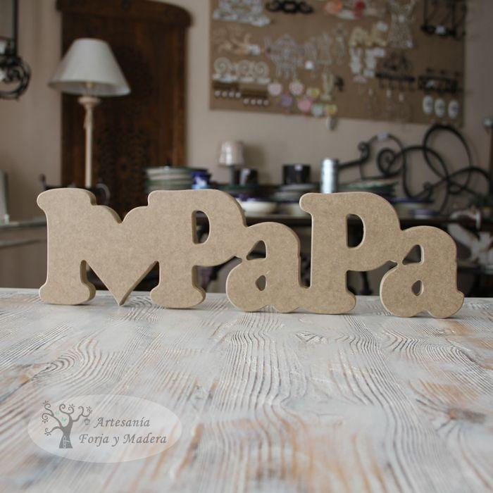 Letra de madera madera piezas pinterest letras de - Casa letras madera ...