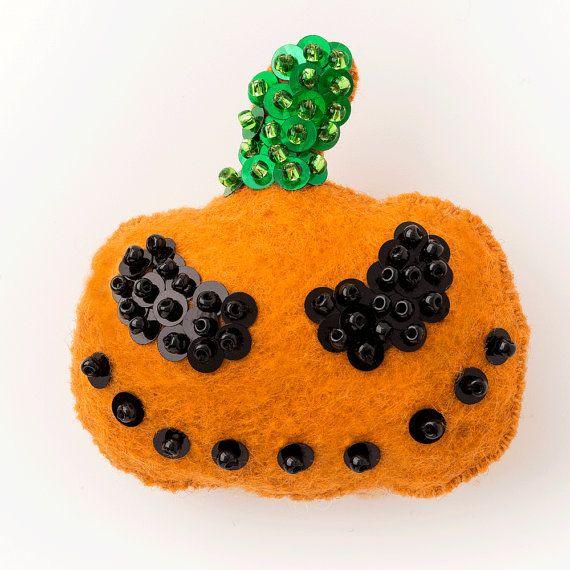 Jack-O-Lantern - Halloween Ornament Pattern - Instant Downloadable