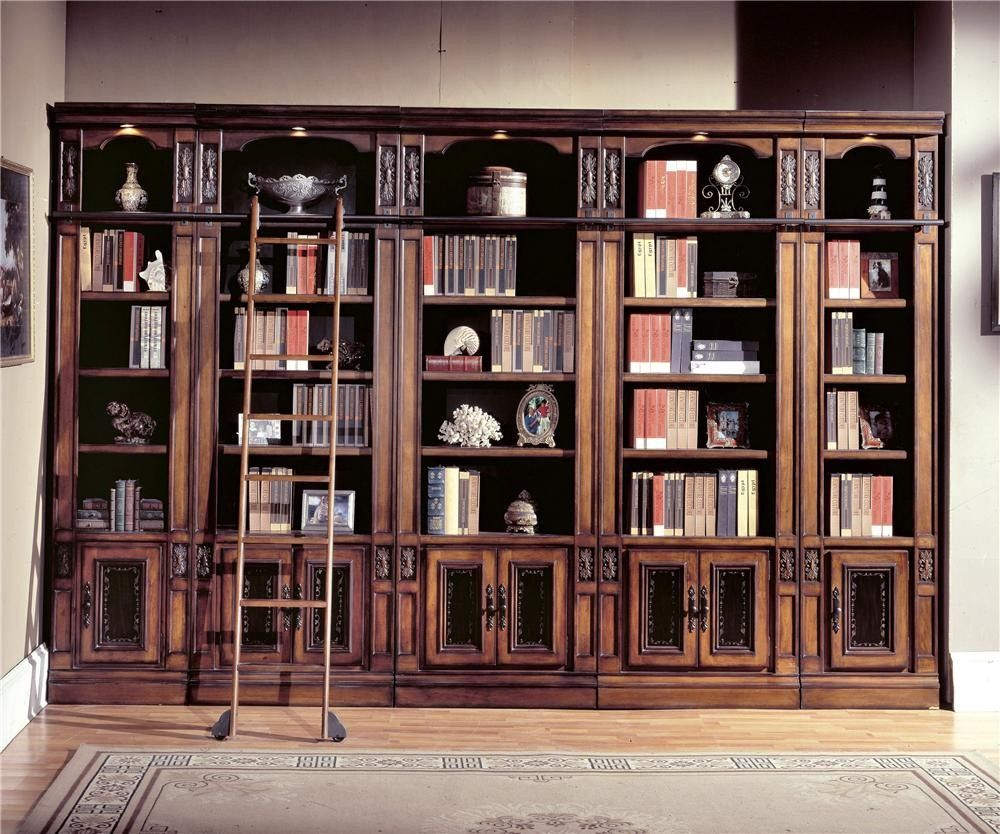 Parker House DaVinci Library Inset Bookcase Wall Built In Look Online  Furniture