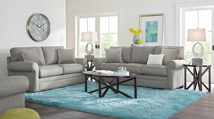 ▷ 1001 + Wohnideen Wohnzimmer zur Inspiration Wohnzimmer Ideen - teppich wohnzimmer grau