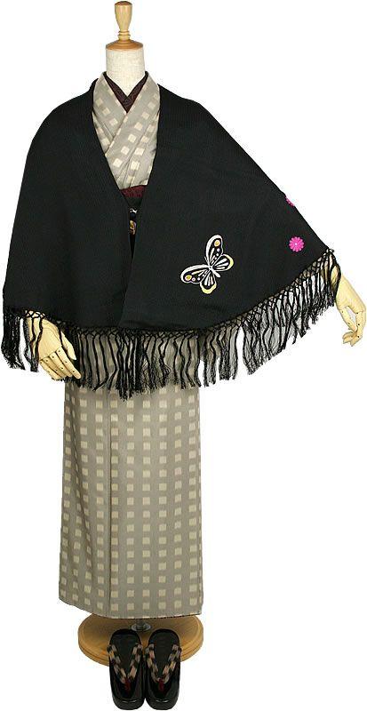 Silk semicircle shawl kimono kimono coat in silk fabrics shawl kimono