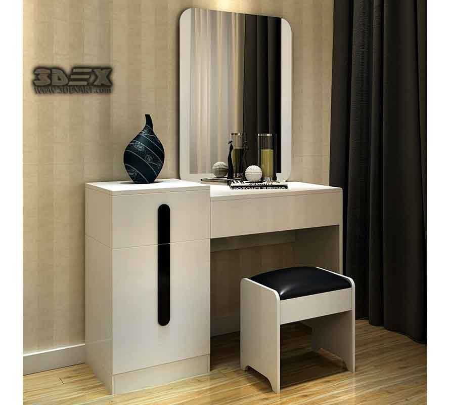 Latest Modern Dressing Table Designs For Small Bedroom Interiors