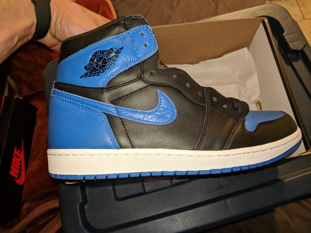 2017 Nike Air Jordan 1 Nike Retro High Og Royal Blue Nike Air Jordan 1 Royal Blue High Retro Og 2017 Mens Size 11 5 Fashion Clothing Shoes Accessories Mensshoes Athleticshoes Jordan 1 Royal Nike Air Jordans