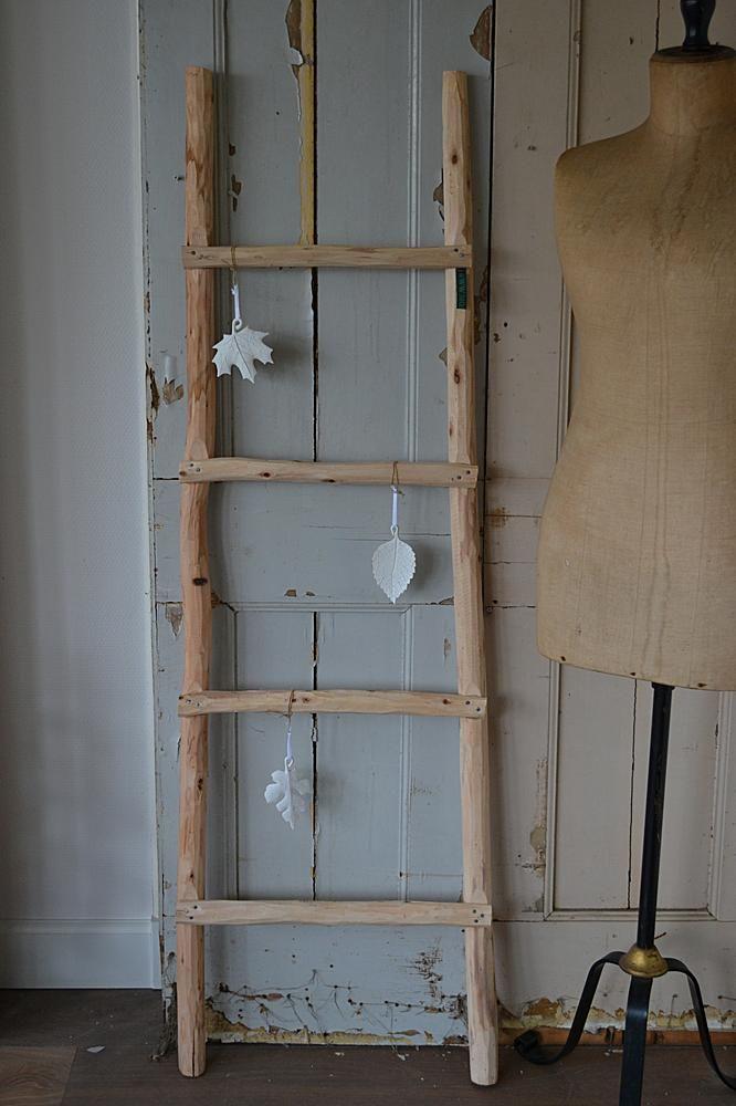 Houten decoratie ladder interieur etc pinterest for Houten decoratie