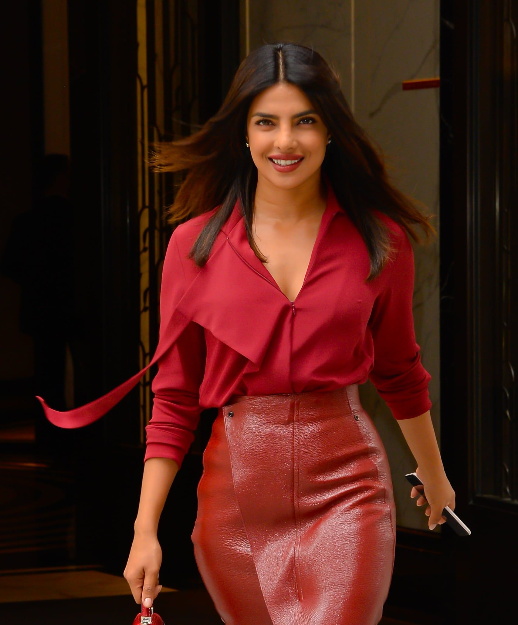b81877200a57 Priyanka Chopra Looked Red Hot in This Monochromatic Outfit