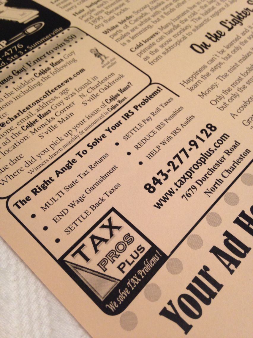 Tax Pros Plus solves your tax problems! Have you received