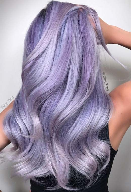 59 Lovely Lavender Hair Color Shades & Dye Tips -