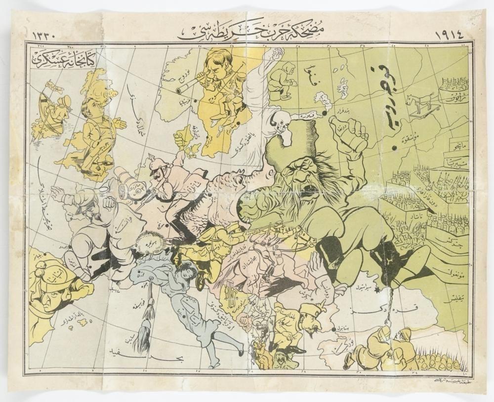 Karte Von Europa 1914.Weltkrieg 1914 1918 Karikaturistische Karte Von Europa 1914