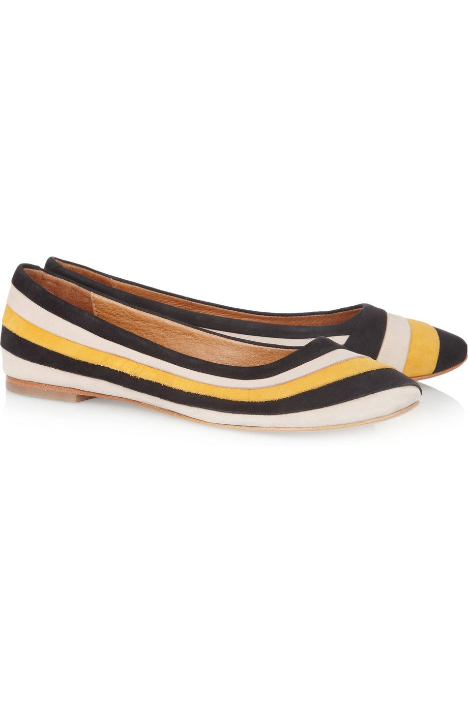 Minimarket pleated suede ballet flats 55 off now at the