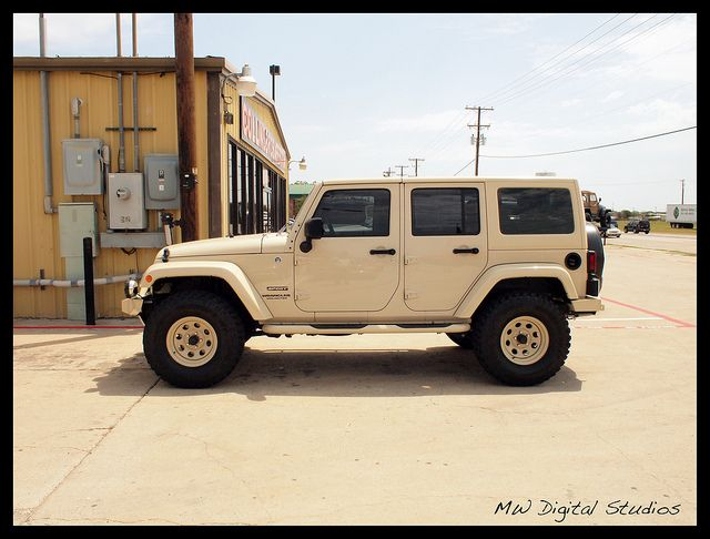 Sahara Tan Jeep Wrangler Unlimited By Mwbutterfly Via Flickr