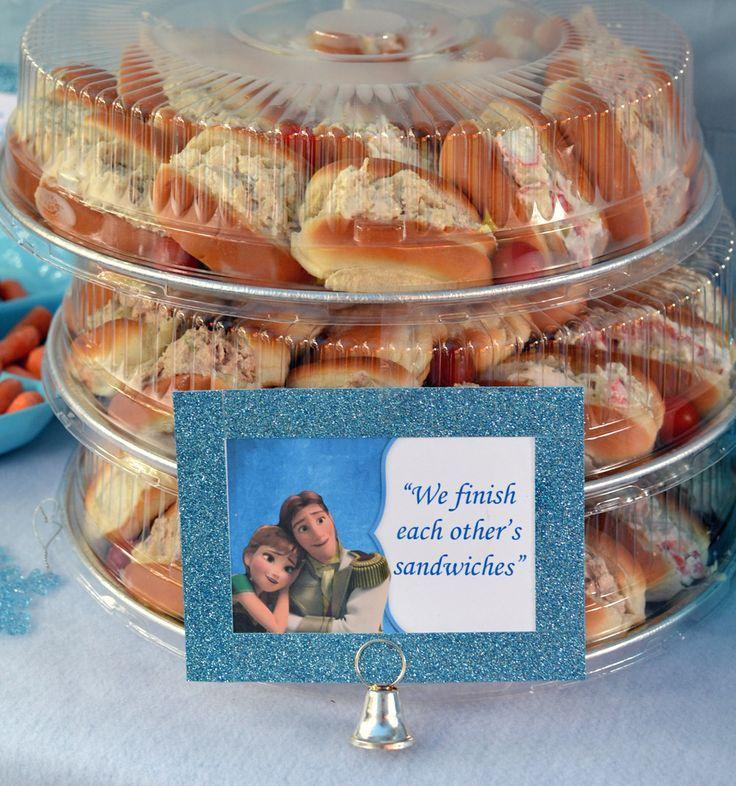 Frozen Sandwiches Party Food Idea