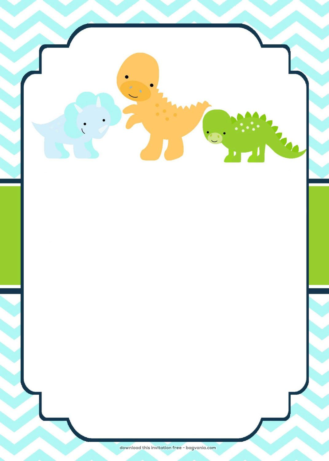 Download Now FREE Dinosaur Birthday Invitations