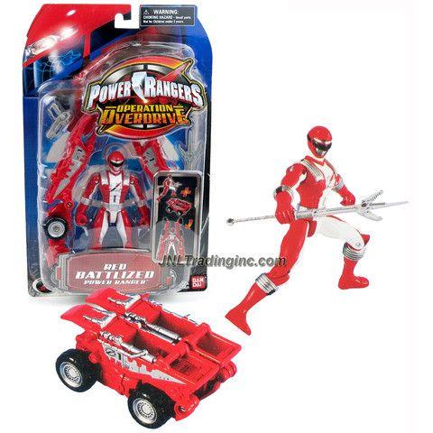 Action- & Spielfiguren POWER RANGERS Red Operation Overdrive 8 Action Figure Toy Vehicle Bandai 2006