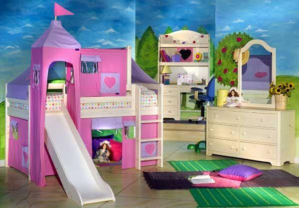 غرفة الاحلام لك يا صغيرتنا #صور #غرفة_زهرية #غرف_نوم | اروع غرف