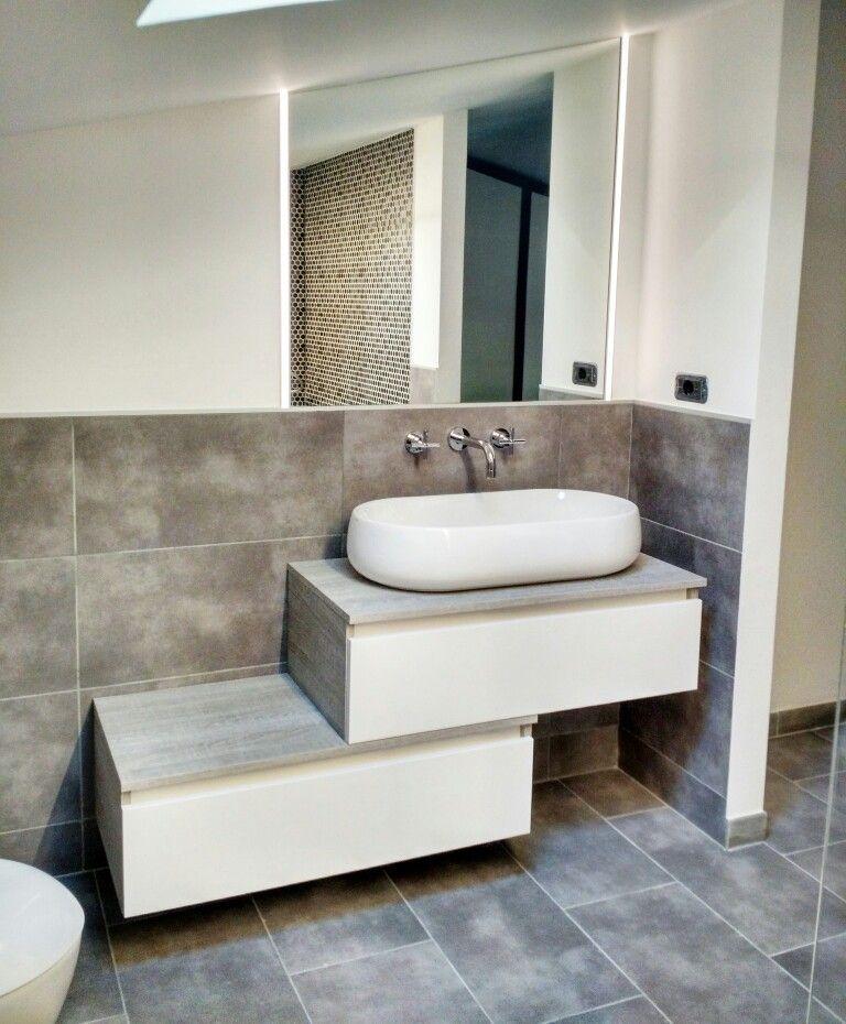 ristrutturazionebagno: mobile bagno #mobilduenne a cassettoni ad ... - Mobili Bagno Con Lavabo Da Incasso