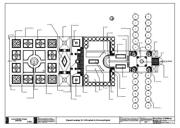 English Garden Design Layout