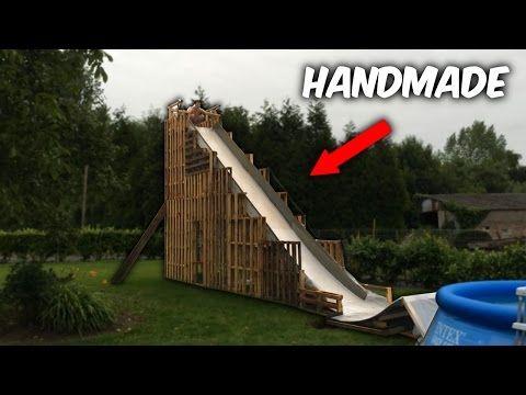 37 Top 5 Insane Homemade Water Slides Crazy Diy Water Slides Youtube Homemade Water Slide Backyard Playground Backyard For Kids
