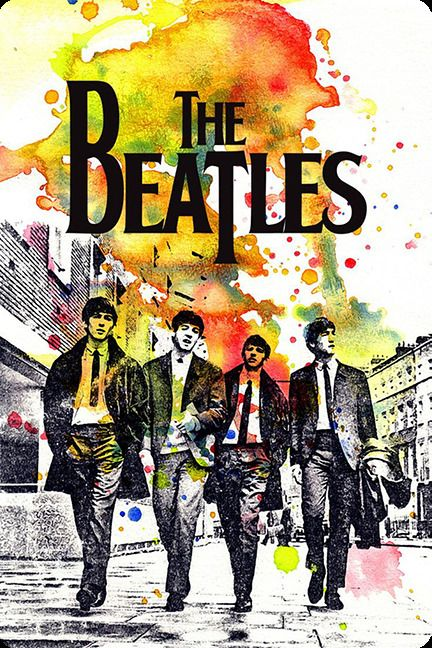 """BEATLES poster music fridge magnet 3.5"""" X 2.5"""" 