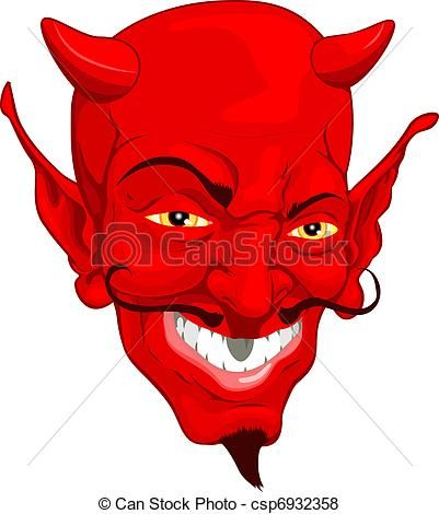 vector devil face stock illustration royalty free illustrations rh pinterest com devil clipart free devil clip art images for free