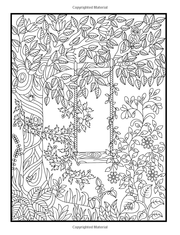 Hidden Animals Coloring Pages : Hidden garden an adult coloring book with secret forest