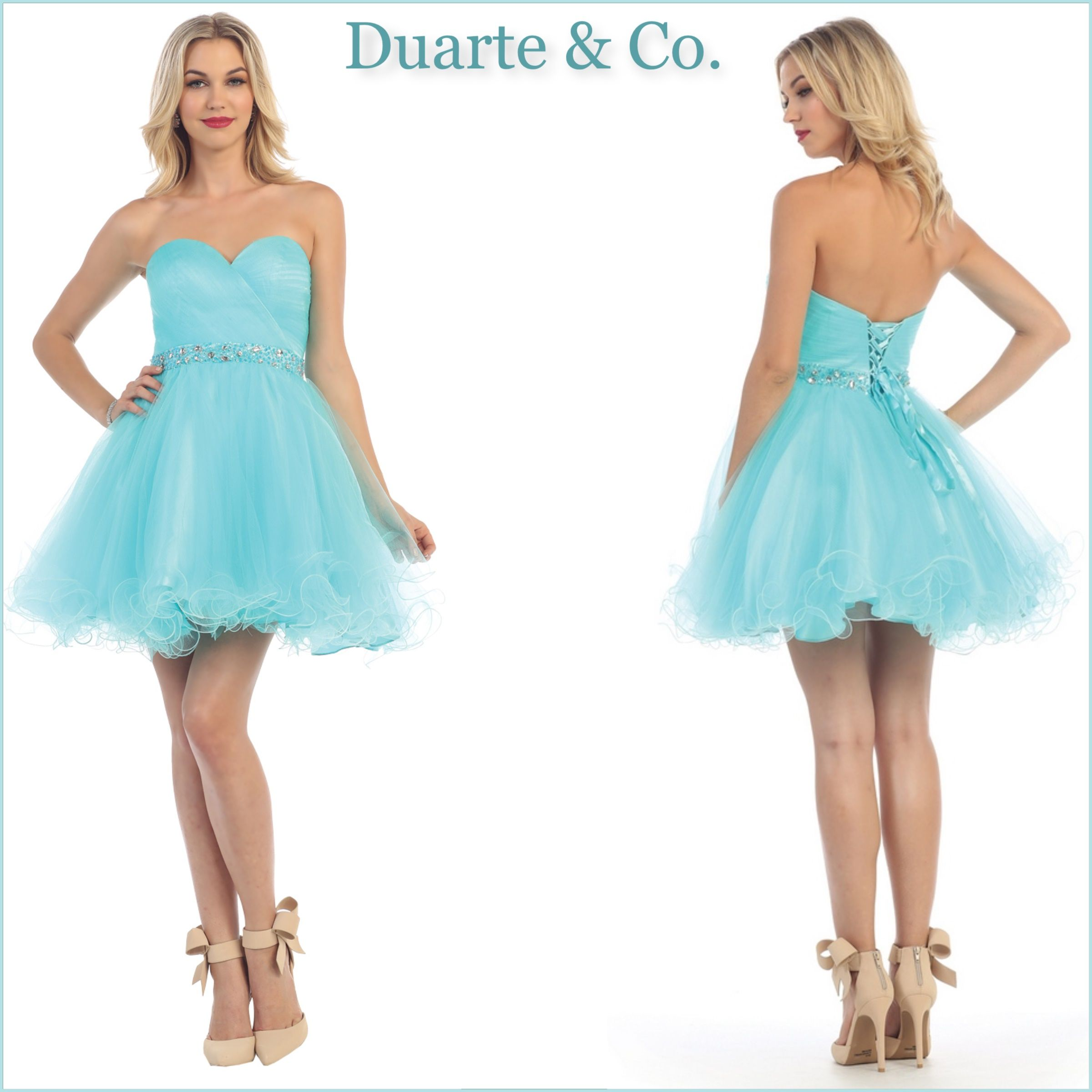 Short Strapless Party Dress W/Plus Sizes - MQ1283 | Mesh material ...