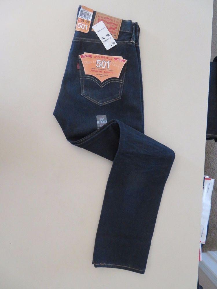 4c3a367c Levi's 501 Jeans Straight Leg Button-Fly Size 29 X 32 005011963 (D) #Levis  #ButtonFly