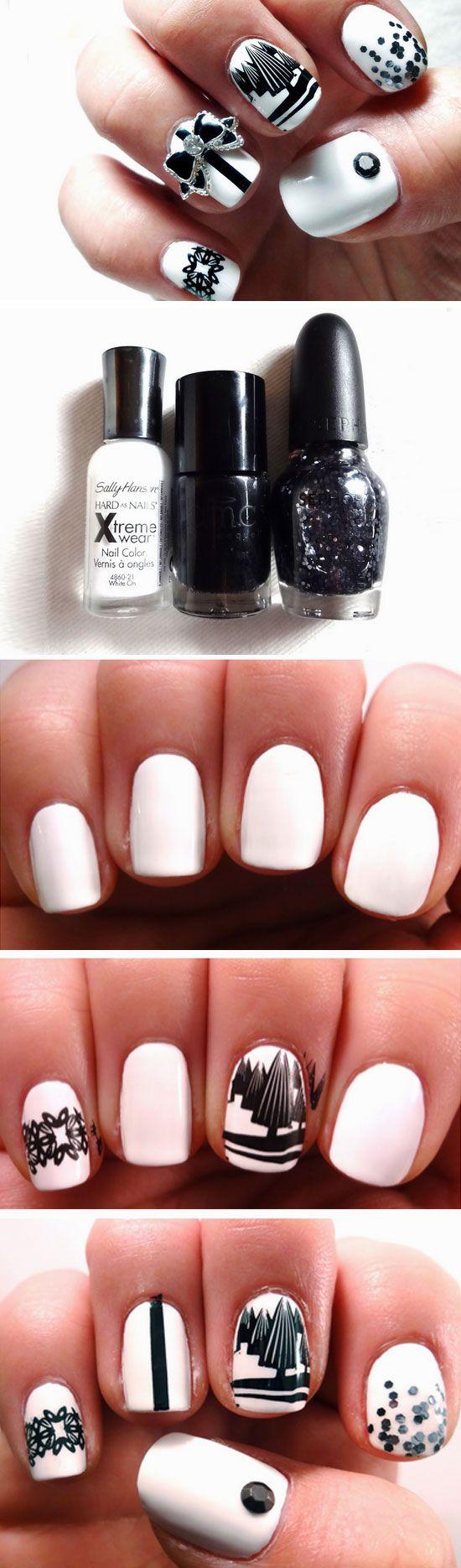 20 diy christmas nail art ideas for short nails short nails and 20 diy christmas nail art ideas for short nails prinsesfo Gallery