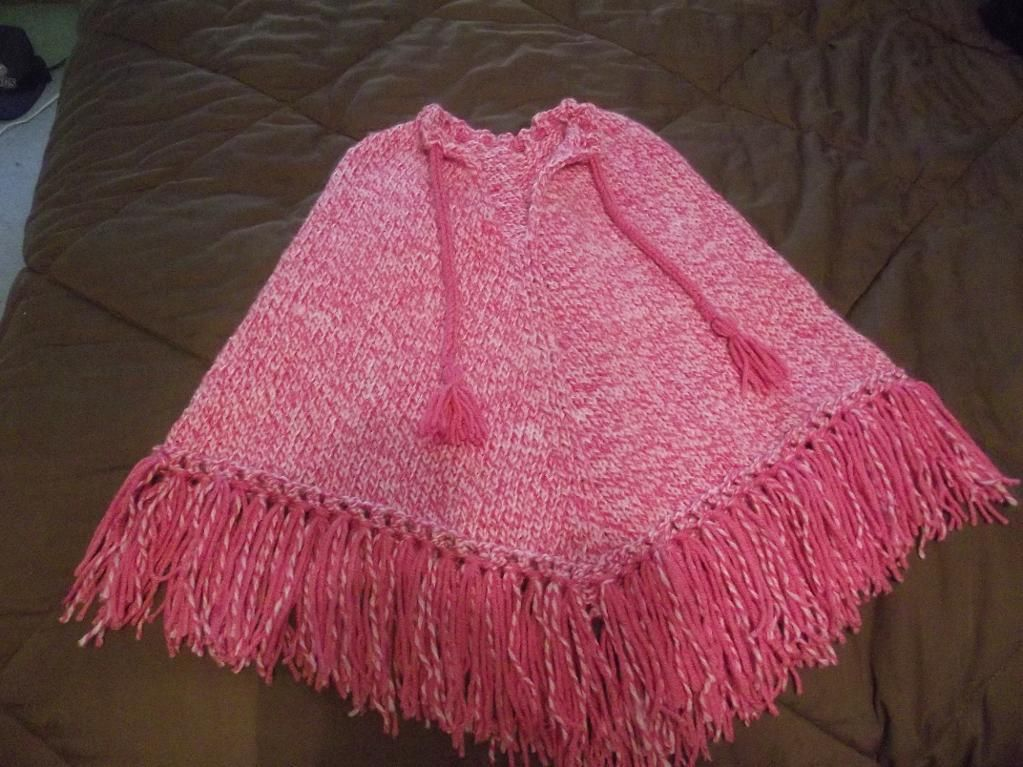 free childs poncho knitting pattern Easy Baby Pretty Poncho by Erikaly...