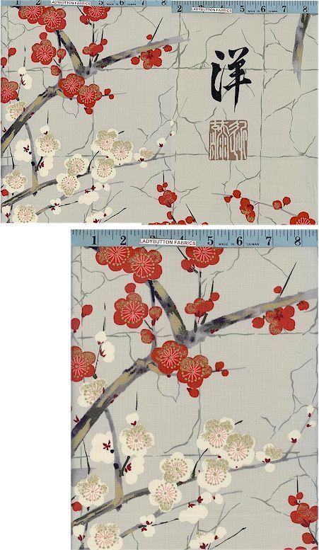 Golden Garden Grey, Alexander Henry, Oriental, Egyptian & Ethnic, Ladybutton Fabrics