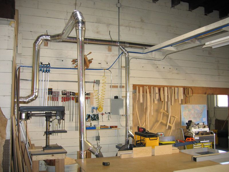 Metal Home Depot Duct And Dust Collection Shop
