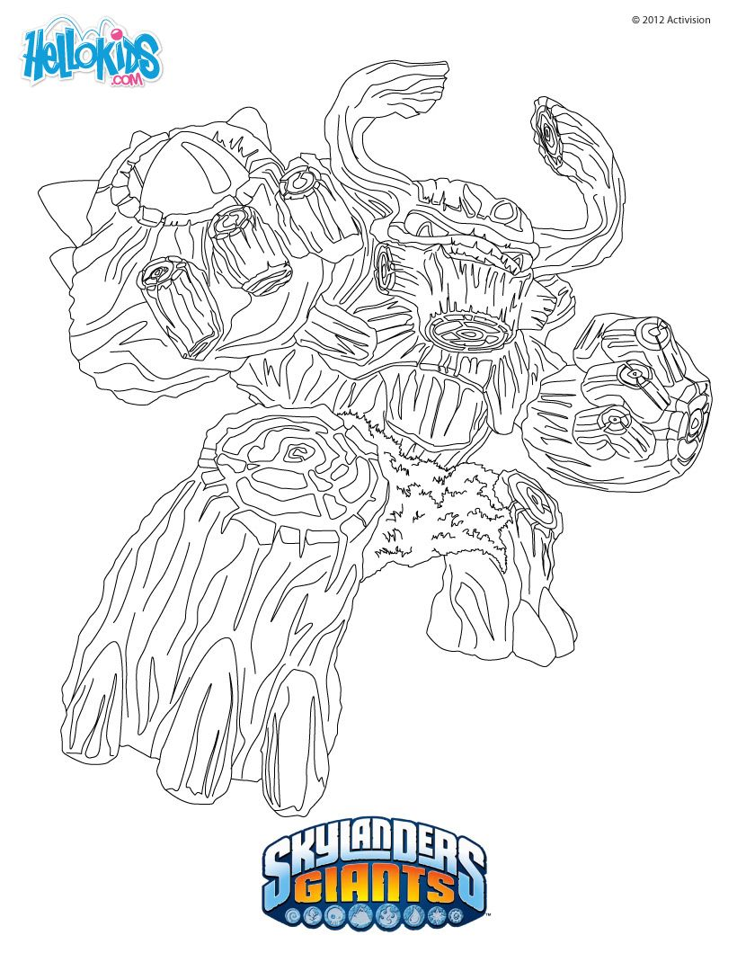 Skylanders Giants Coloring Pages Treerex Coloring Pages Skylanders Birthday Skylanders Birthday Party