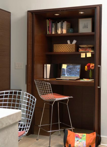 Charmant If You Work From Home Only Occasionally, Consider A Multipurpose Space. In  This Case Simply Pull Up A Stool To A Counter Height Shelf Tucked Inside A  Spare ...