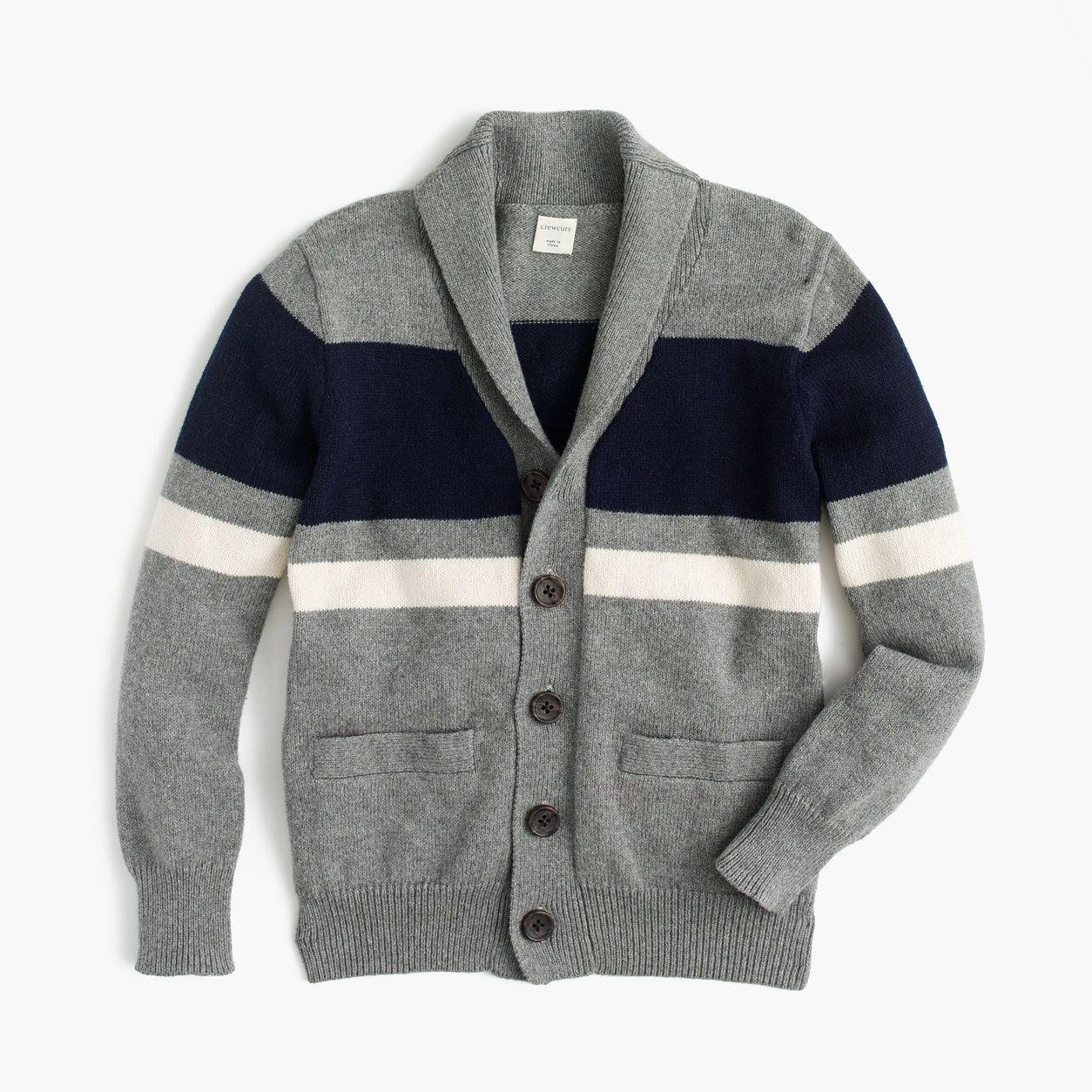 c55c6ddea crewcuts Boys Shawl-Collar Striped Cardigan (Size 12 Kid) | Products ...
