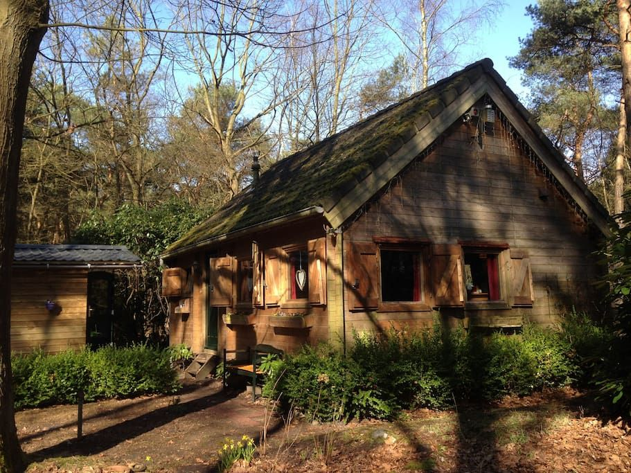 House in Lieren, Netherlands. My place is a fairytale wooden house (sleeps 5) and shed (sleeps 2) set in wild private woodland on the edge of the Veluwe, close to Apeldoorn offering many family friendly activities, and the culinary village of Beekbergen, and Bussloo lake with ...