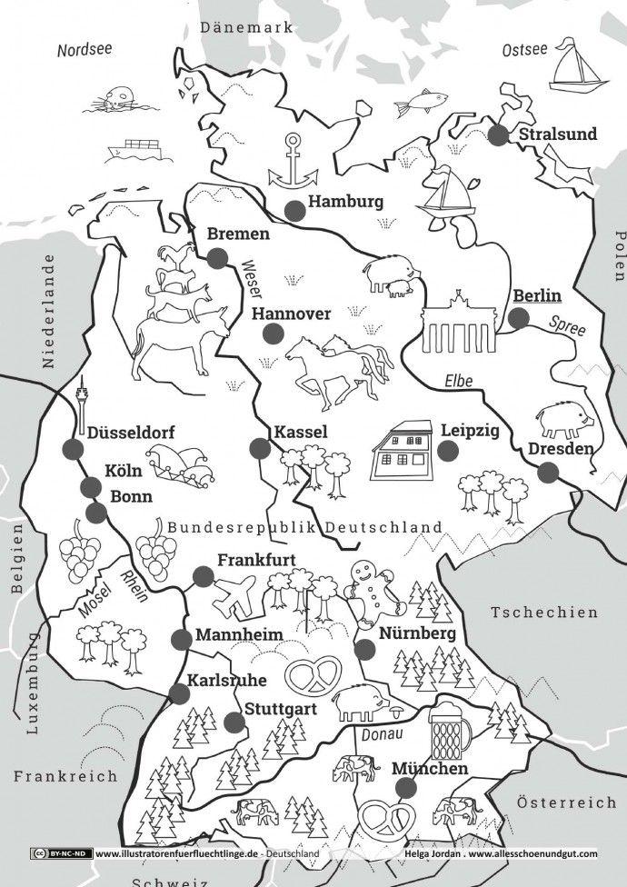 Deutschlandkarte Deutschland Schulideen Karte Deutschland