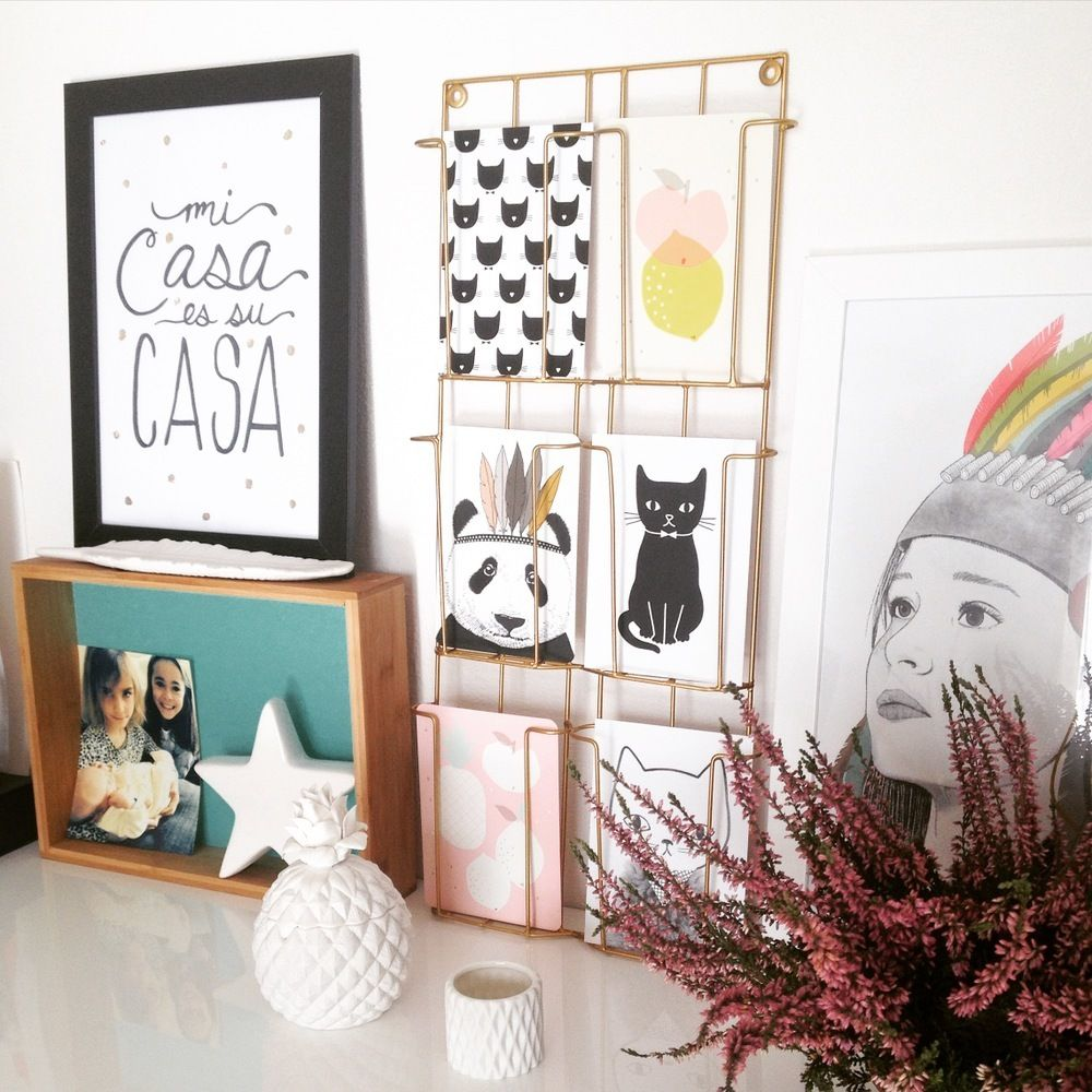 Porte cartes postales mural, à fixer au mur ou à poser. Pour ...