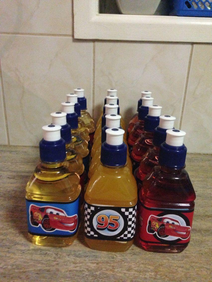 Drink bottles, cars themed