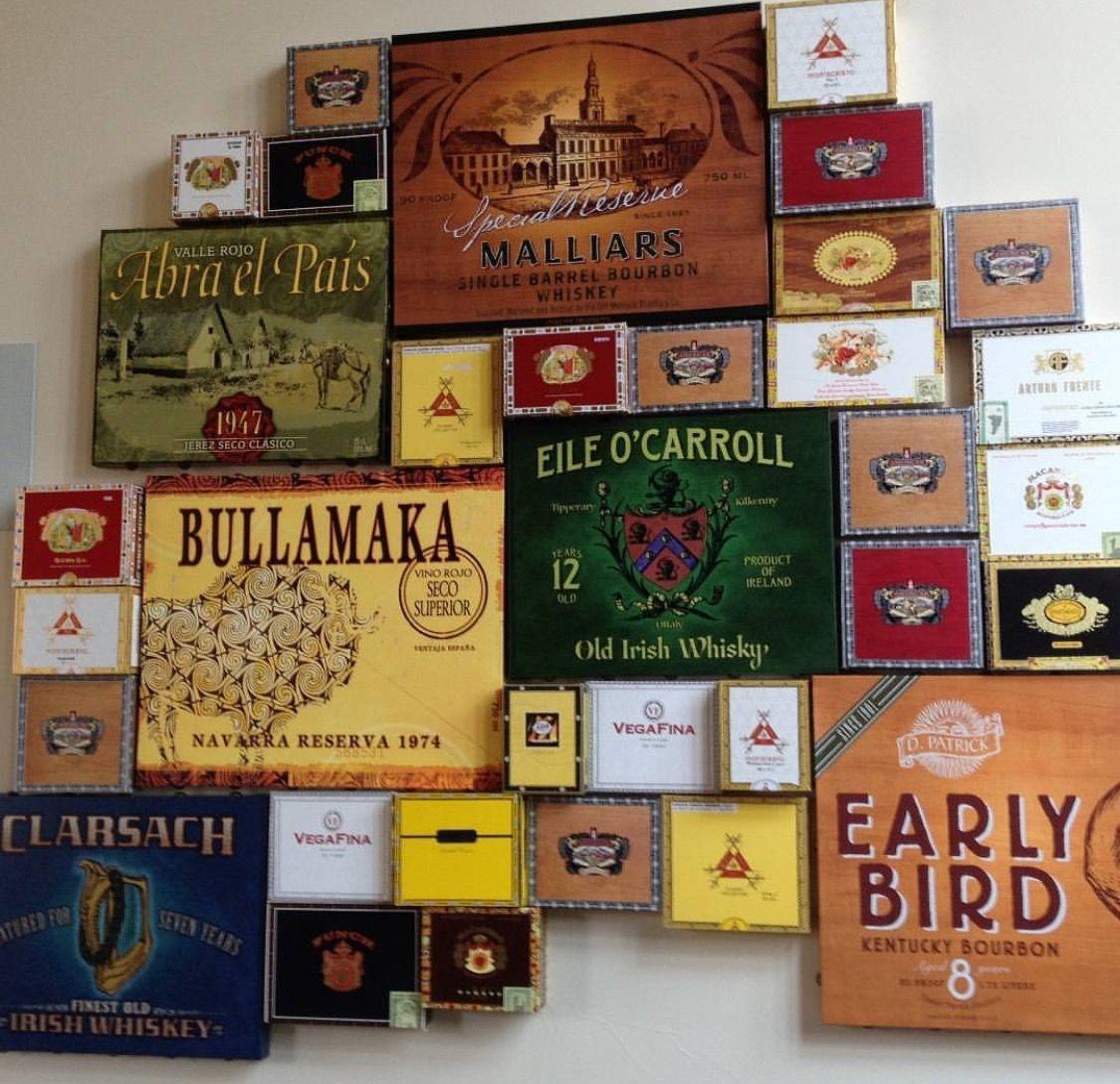 Cigar Boxes As Wall Art Cigar Box Art Cigar Box Crafts Cigar Lounge Man Cave
