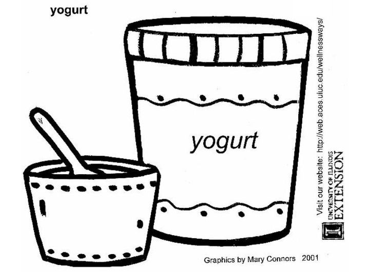 Yogurt Para Colorear Colorful Pictures