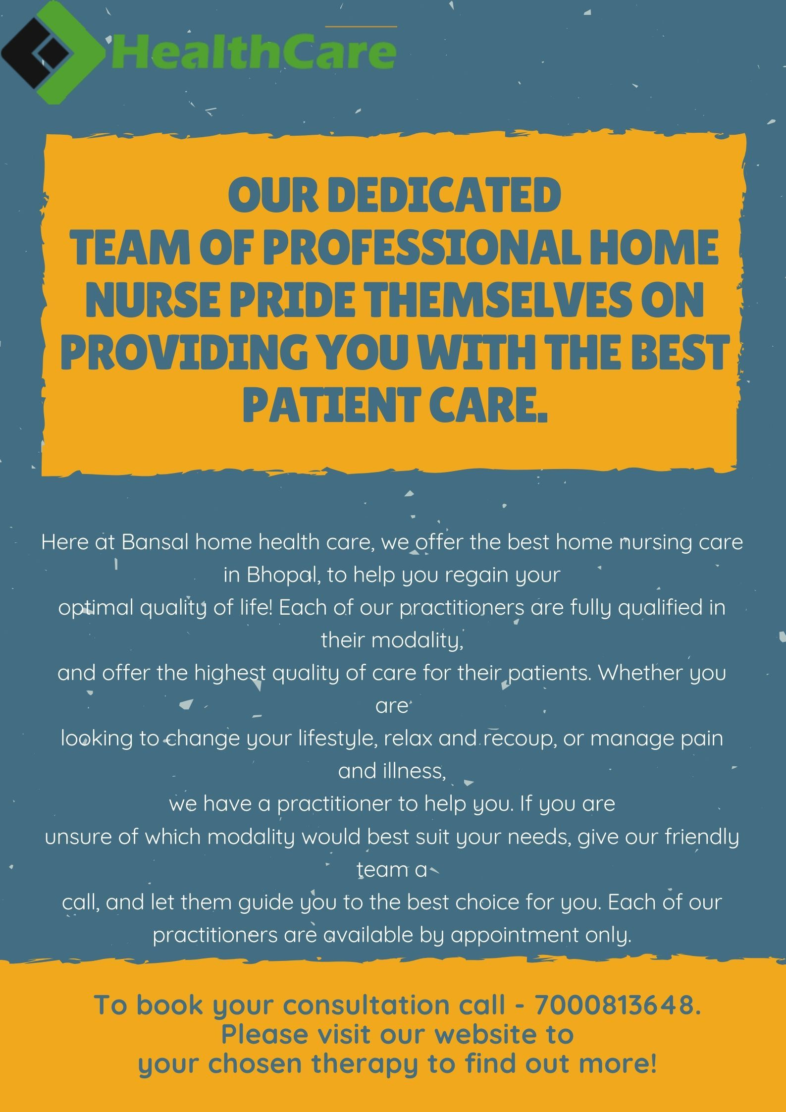 Here At Bansal Home Health Care We Offer The Best Home Nursing