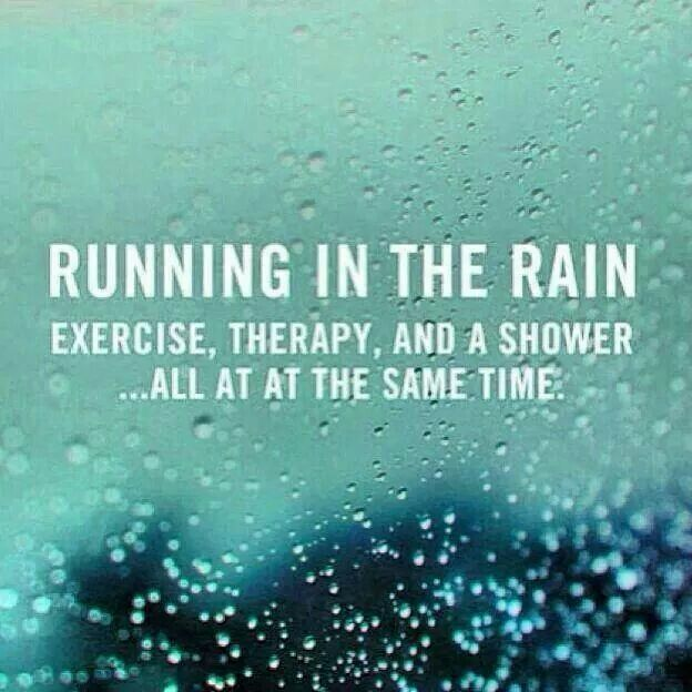 Running in the rain...