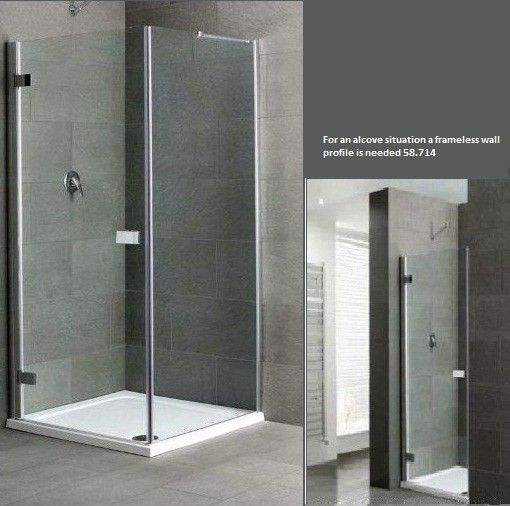 Cotswold Volente Frameless Shower Door 700mm 58.811 - Cotswold Volente 700mm Frameless Shower Door - Polished Chrome Frame.  Luxurious, easy to clean  , contemporary frameless enclosure in 6mm tempered safety glass, height 1850mm. Easy Clean Glass as Standard  . Door adjustment 668mm - 690mm  . Full Eastbrook guarantee. Price includes VAT and delivery to most UK postcodes.