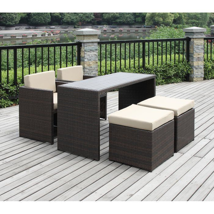 You Ll Love The Lisa 5 Piece Seating Group With Cushion At Allmodern With Great Deals On Modern Outd Patio Dining Set Pool Patio Furniture Outdoor Dining Set
