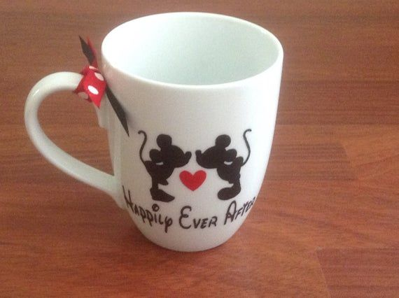 Disney Happily Ever After Ceramic Mug, Disney Mug, Bridal Shower Gift, Disney Coffee Mug #disneycoffeemugs